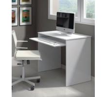 Маленький компьютерный стол, цвет белый, стиль - современный