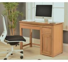Маленький компьютерный стол, цвет коричневый, стиль - современный