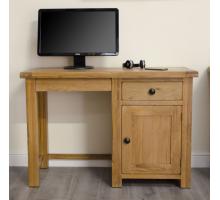 Маленький компьютерный стол, цвет коричневый, стиль - традиционный