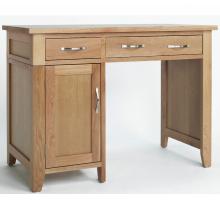 Маленький компьютерный стол с ящиками, цвет светло-коричневый, стиль - современный
