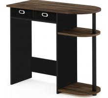 Маленький компьютерный стол, цвет темно-коричневый, стиль - современный