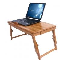 Маленький складной компьютерный стол, цвет коричневый, стиль - современный