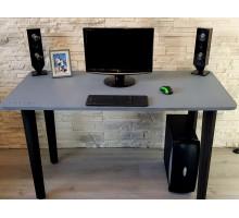 Геймерский компьютерный стол, цвет серый, стиль - модерн