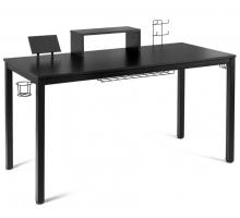 Геймерский компьютерный стол, цвет черный, стиль - модерн