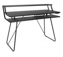 Геймерский металлический компьютерный стол, цвет черный, стиль - модерн