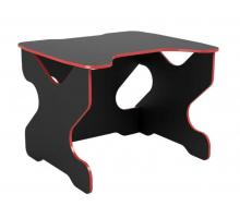 Геймерский компьютерный стол, цвет черный с красными линиями, стиль - современный