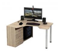 Геймерский компьютерный стол, цвет светло-коричневый, стиль - современный