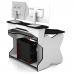 Геймерский компьютерный стол, цвет черный с белыми ножками, стиль - современный