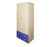 Шкаф  в детскую,цвет -    мадейра / синий глянец, современный