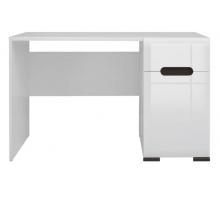 Компьютерный стол с тумбой, цвет белый, стиль - современный