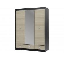 Встроенный шкаф-купе, цвет - дуб, стиль - современный