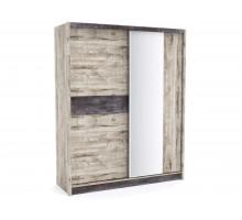 Встроенный шкаф-купе Денвер, цвет - риббек серый, стиль - современный