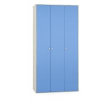 Шкаф  в детскую,цвет -дуб белый craft / капри синий, современный