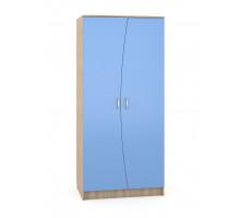 Шкаф купе  в детскую,цвет -   бук песочный / капри синий, современный
