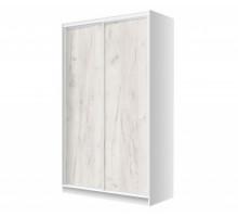 Корпусный шкаф-купе Лофт, цвет - белая шагрень, стиль - лофт