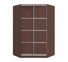 Угловой шкаф-купе Оскар, цвет - темный, стиль - современный