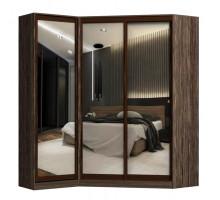 Угловой шкаф-купе Остин, цвет - коричневый, стиль - современный