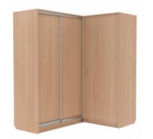 Угловой шкаф-купе Эконом, цвет - шимо светлый, стиль - современный