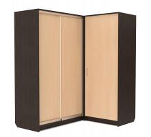 Угловой шкаф-купе Эконом, цвет - венге, стиль - современный