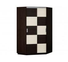 Угловой шкаф-купе Шахматка, цвет - верне, стиль - современный