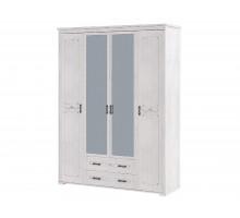Распашной шкаф-купе Елизавета, цвет - лиственница сибо, стиль - современный