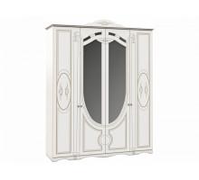 Распашной шкаф-купе Александрина, цвет - белый, стиль - современный