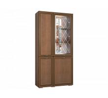 Распашной шкаф-купе Ливорно, цвет - орех донской, стиль - современный
