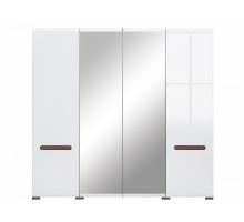 Распашной шкаф-купе Ацтек, цвет - белый, стиль - современный