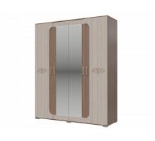 Распашной шкаф-купе Пальмира, цвет - ясень шимо темный, стиль- современный