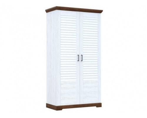 Шкаф купе распашной, цвет - белый, современный