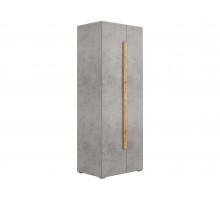 Распашные шкафы купе, цвет - бетон чикаго, современный
