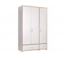 Шкаф  в детскую,цвет -Дуб золотой / Белый, современный