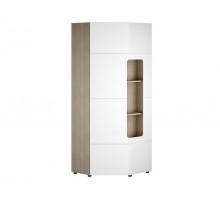 Шкаф  в детскую,цвет -   ясень шимо светлый / белый глянец, современный