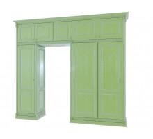 Шкаф-купе Ментол, цвет - зеленый, стиль - неоклассика