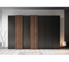 Шкаф-купе Палермо, цвет - коричневый, серый, стиль - скандинавский