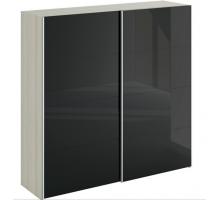 Шкаф-купе двухдверный черный Slide 2230, цвет - бежевый, черный, стиль - скандинавский
