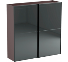 Шкаф-купе двухдверный с 2 отделениями коричневый с серым Nero, стиль - скандинавский