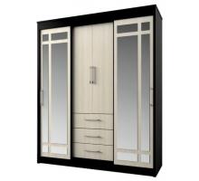 Шкаф-купе для одежды Фортуна, цвет - черный, стиль - хай-тек