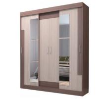Шкаф-купе для одежды Феникс 1.5, цвет - коричневый, стиль - хай-тек