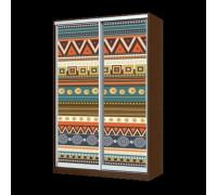 Шкаф-купе фотопечать, цвет - коричневый, стиль - этнический