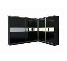 """Шкаф-купе """"Блэквуд"""", цвет - черный, стиль - современный"""
