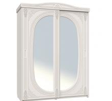 """Шкаф-купе с зеркалом """"Ассоль"""", цвет - белый, стиль - современны"""
