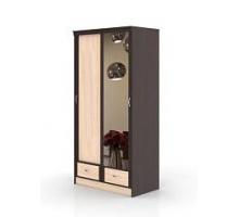 """Шкаф-купе с зеркалом """"Валерия"""", цвет - венге + дуб молочный, стиль - современный"""