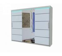 """Шкаф-купе с зеркалом """"RIO 3"""", цвет - белый, стиль - современный"""