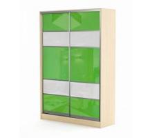 """Яркий шкаф-купе """"Респект"""", цвет - зеленый, стиль - современный"""