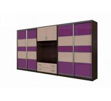 """Яркий шкаф-купе """"Круиз-1"""", цвет - розовый глянец + венге, стиль - современный"""
