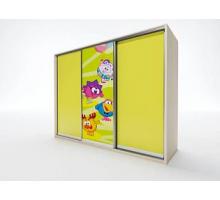 """Яркий шкаф-купе """"EL-10"""", цвет - желтый, стиль - современный"""