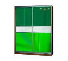 """Яркий шкаф-купе """"Респект-03"""", цвет - лилово-зеленый + венге, стиль - современный"""
