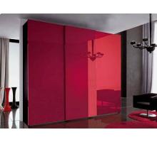 """Яркий шкаф-купе """"Редл"""", цвет - красный глянец + венге, стиль - современный"""