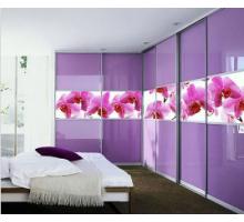 """Шкаф-купе 5 дверный """"Идилия-3"""", цвет - фиолетовый, стиль - современный"""